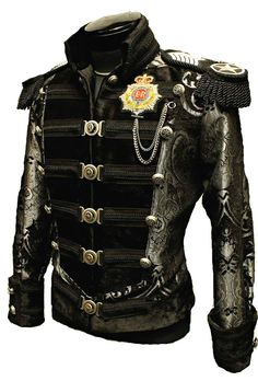 SHRINE NAPOLEON PIRAT GOTHIC JACKET MILITARY COAT ROCK BAND GOTH STEAMPUNK 2XL in Clothing, Shoes