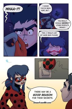 """Miraculous: Tales of Ladybug and Cat Noir """"Masquerader"""" - By emzurl Page 15 > Page 17 So I took a chance and decided to have Ladybug take her mask off on the last page. I don't know what you all..."""