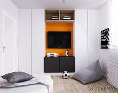PROJEKT MIESZKANIA 55 m2 - Mały pokój dziecka dla chłopca dla nastolatka, styl nowoczesny - zdjęcie od STUDIO MAC