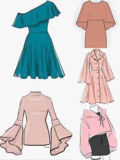 Fashion Design Sketches 787496684831803322 - Source by Dress Design Sketches, Fashion Design Drawings, Fashion Sketches, Drawing Sketches, Fashion Drawing Dresses, Fashion Illustration Dresses, Dress Drawing, Drawing Clothes, Dress Design Drawing