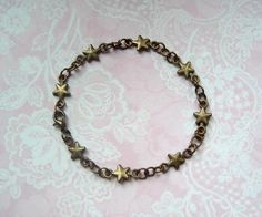 Armkettchen Sterne bronze Vintage von MiMaKaefer auf DaWanda.com