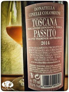 2014 Donatella Cinelli Colombini Passito Toscana Sweet wine back label social vignerons