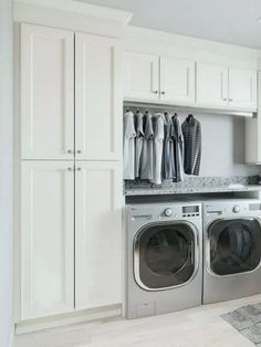 Small or large, we are inspired by these laundry room layouts and designs . # desi or large, we are inspired by these laundry room layouts and designs .Small or large, we are inspired by these laundry room l Mudroom Laundry Room, Laundry Room Shelves, Laundry Room Layouts, Laundry Room Remodel, Laundry Room Cabinets, Laundry Room Organization, Laundry In Bathroom, Diy Cabinets, Laundry Room With Storage