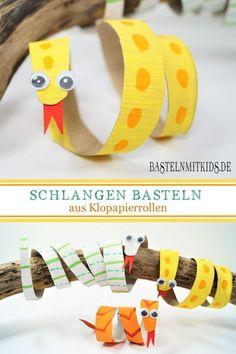 make a snake - crafts with children - .- mache eine Schlange – Basteln mit kindern – make a snake – crafts with children – - Diy Crafts To Do, Yarn Crafts, Crafts For Kids, Arts And Crafts, Children Crafts, Cardboard Crafts, Sewing Crafts, Kindergarten Art Projects, Kindergarten Lesson Plans