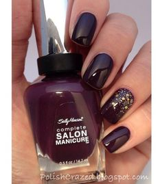 Kép innen: We Heart It https://weheartit.com/entry/167587350 #manicure #nailart #naillacquer #nailpolish #nails #purple #nailideas #manicureideas