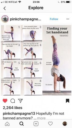 Finding your handstand - Finding your handstand Check more at yoga.mobiluygulam… Finding your handstand Check more at yoga - Yoga Fitness, Fitness Workouts, At Home Workouts, Physical Fitness, Fitness Games, Kids Fitness, Health Fitness, Fitness Style, Fitness Humor