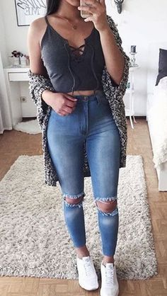 teen fashion outfits, outfits for teens, jean outfits, casual outfits, Tumblr Outfits, Mode Outfits, Jean Outfits, Casual Outfits, Teen Fashion Outfits, Outfits For Teens, 90s Fashion, Fall Fashion, Fashion Ideas