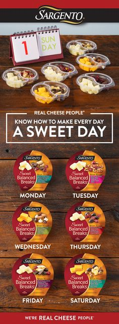 If you're making a weekly eating plan, don't forget the Sweet Balanced Breaks®. With so many delicious varieties, you can make every day this spring a little sweeter.