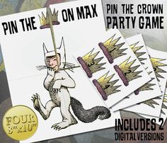 Where the Wild Things Are Theme: Pin the Crown On by OhWowDesign