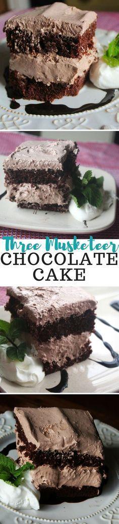 Three Musketeer Chocolate Cake