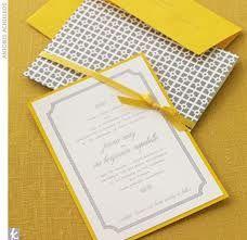 Lemon Yellow Wedding Invitations - The Wedding Specialists