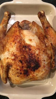 AIR FRYER WHOLE ROASTED CHICKEN Ingredients: Whole Chicken (about 4-5 pounds) Olive Oil Seasoning (Salt, Pepper, Garlic Powder, Tony's Chachere) Directions: Wash chicken and then pat dry with paper…