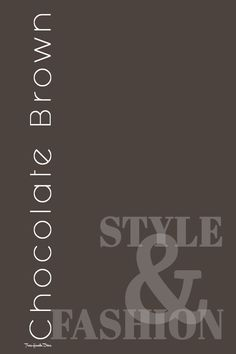 Pantone, Chocolate Truffles, Brown Fashion, Diva, Coral, Colors, Style, Top, Swag