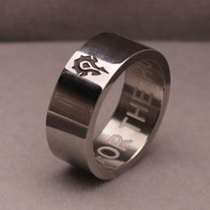 MMPG World of Warcraft Ring for the horde movie expansion gamer gaming jewelry ring steel
