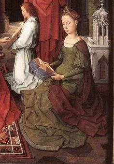 St John Altarpiece (central panel detail) by Hans Memling, 1474-79 Memlingmuseum, Sint-Janshospitaal, Bruges