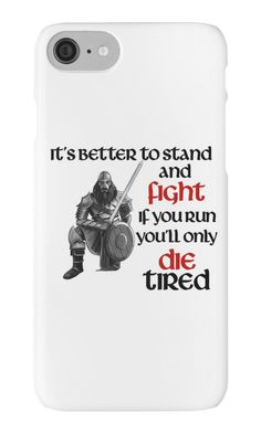 Viking Warrior - Stand and Fight iPhone Cases.   *Slim fitting one-piece clip-on case Allows full access to all device ports *Extremely durable, shatterproof casing *Long life, super-bright colors embedded directly into the case