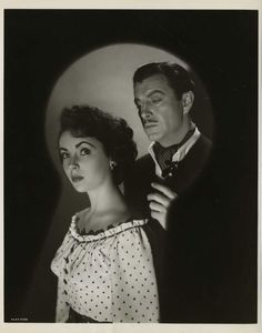 """Elizabeth Taylor and Robert Taylor portraits from """"Conspirator"""" by Virgil Apger,(M-G-M, 1949)."""