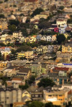 San Francisco... It looks like a fake model!  Gorgeous.