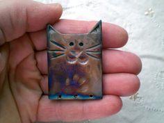Raku Bead Cat Bead Paw Print Pattern