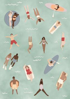 Ocean Illustration, Pattern Illustration, Character Illustration, Botanical Illustration, Graphic Illustration, Swimming Pool Drawing, Typography Images, Character Wallpaper, Beautiful Posters