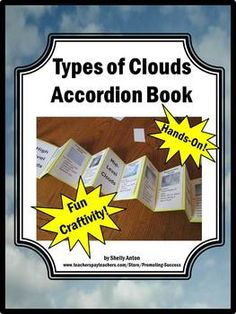 Science Craftivity: Types of Clouds Accordion Book