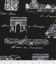Paris-themed fabric
