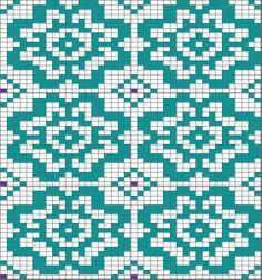 flower chart, could be nice for Kauni effectyarn cardigan