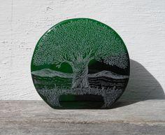 Engraved Blenko Glass Paperweight/Bookend http://www.etsy.com/listing/150025274/engraved-blenko-glass-paperweightbookend