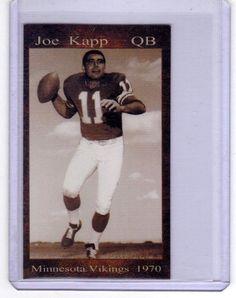 1970 Joe Kapp, Minnesota Vikings Quarterback limited edition #MinnesotaVikings