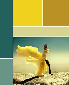 deco bleu canard et jaune planche-tendance
