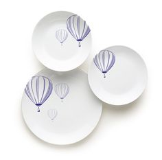 #Piatti #porcellana decorati - #baloon by Excelsa