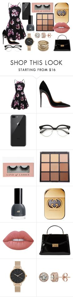"""""""Sem título #1409"""" by natalierlu ❤ liked on Polyvore featuring Christian Louboutin, Morphe, Lime Crime, Tory Burch, Diamond Splendor and Sole Society"""