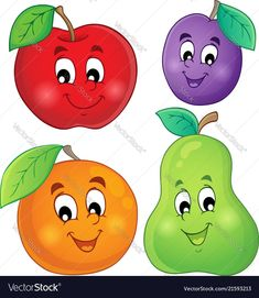 Fruits Clipart - Digital Clip Art - Fruit - Personal and commercial use