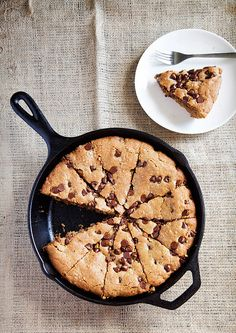 Skillet Choc Chip Cookies.