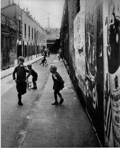 Bill Brandt East End playground, London