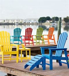 .Bright colored chairs