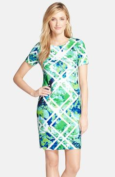 Vince Camuto Print Scuba Body-Con Dress available at #Nordstrom
