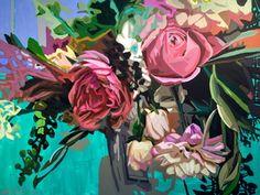 Drooping Flowers by Kate Mullin Paintings