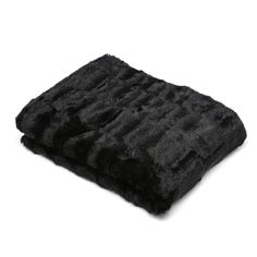 Faux Fur Mink Soft Throw Blanket Chair Winter Sofa Couch Black Bedroom Fleece  #FauxFur #Modern
