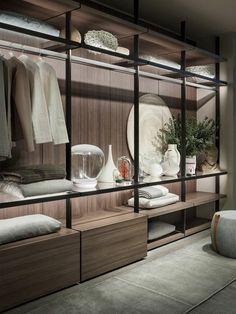 Hotel Bedroom Design, Bedroom Closet Design, Bedroom Decor, Design Hotel, Walk In Closet Design, Closet Designs, Modern Closet, Modern Bedroom, White Sofa Design