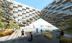 Bjarke Ingels Group (BIG) and Barcode Architects unveiled a mixed-use sustainable building with cascading zero-energy apartments for Amsterdam | Inhabitat - Green Design, Innovation, Architecture, Green Building