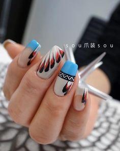 The Most Popular Nail Shapes – NaiLovely Get Nails, How To Do Nails, Gorgeous Nails, Pretty Nails, Western Nails, Indian Nails, American Nails, American Flag, Nailart