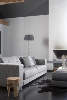 Soft grey living room
