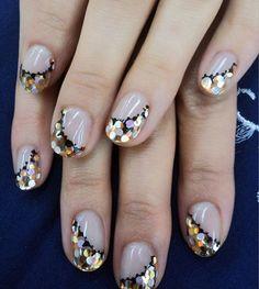 cute glitter nail art