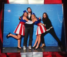 HayleyAtwell might have been a little jealous when we hugged ChrisEvans #SLCC15