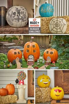 @MichaelsStores challenged our bloggers to put their own spin on a craft pumpkin, just in time for Halloween. From silly to spooky, it's hard to pick a favorite! >> http://www.diynetwork.com/made-and-remade/make-it/made-and-remade-pumpkin-challenge?soc=pinterest