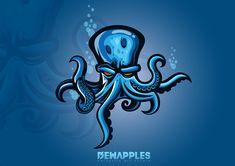 Mascot Design, Logo Design, Kraken Logo, Logo Esport, Fantasy Football Logos, Octopus Illustration, Graffiti Doodles, Graffiti Lettering Fonts, Octopus Tattoos