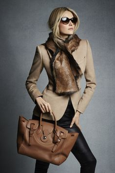Ralph Lauren Black Label Pre-Fall 2014 - Very Classic and Chic - Love This Look Style Work, Mode Style, Office Style, Look Fashion, Womens Fashion, Fashion Trends, Fall Fashion, Fashion Black, Trendy Fashion