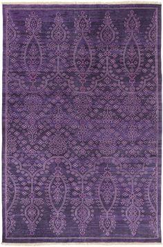 Surya ATQ1013 Antique Purple Rectangle Area Rug