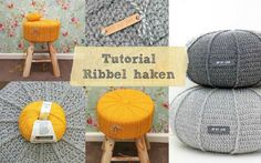 Ribbel haken Jip by Jan Crochet Cord, Diy Crochet And Knitting, Crochet Cushions, Crochet Stitches, Crochet Patterns, Crochet Hats, Knitted Blankets, Beautiful Crochet, Lana